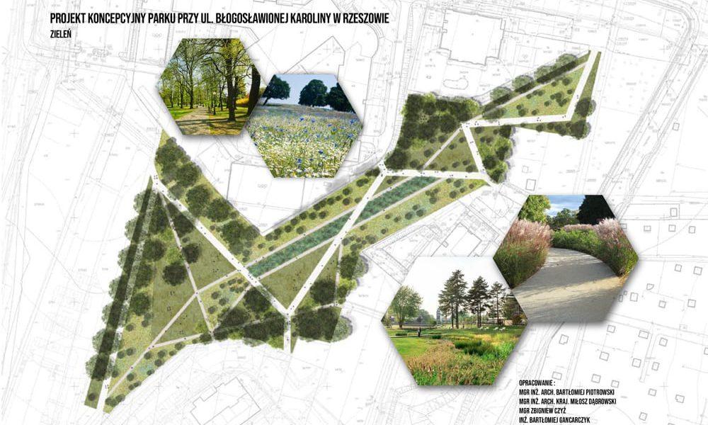 rzeszów park zieleni błogosławionej karoliny