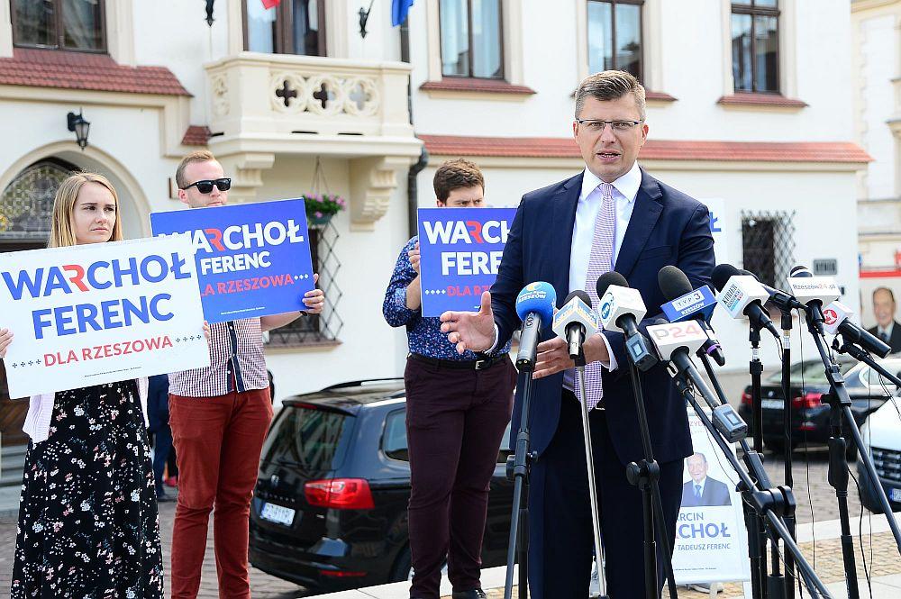 marcin warchoł wybory prezydent rzeszów
